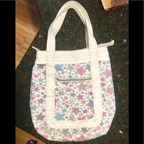 Handbags - Cute star pattern canvas tote!